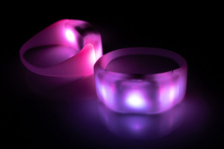 3 LED CrowdSync Wristband Pink